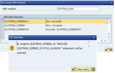 SAP Listbox on dialog screen