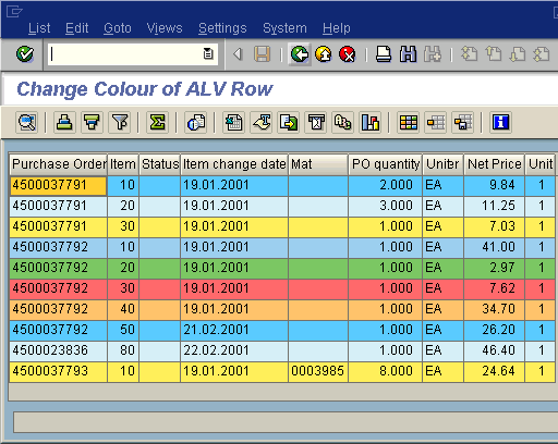 SAP ALV row colour change and making each individual row a different ...