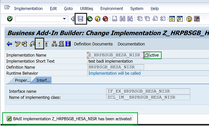 SAP BADI transaction - How to implement a Business Add-In