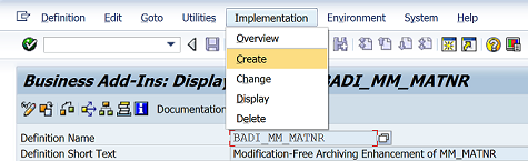 SAP migrated BADI using enhancement point implementation