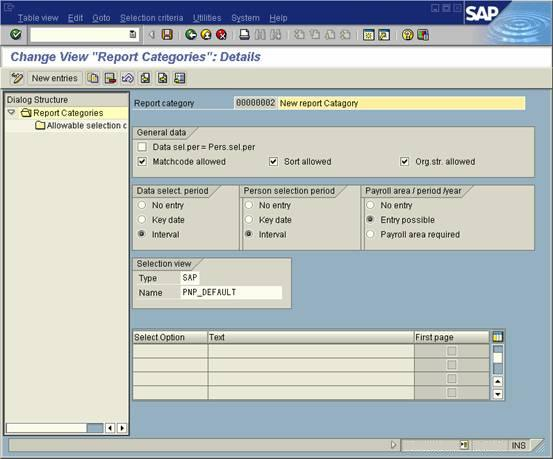 Create Sap Hr Report Category For Logical Database Selection Within