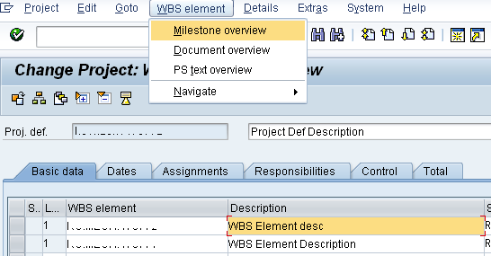 BAPI_PROJECT_MAINTAIN - maintain project definition wbs
