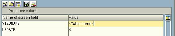 assign tcode to table maintenance