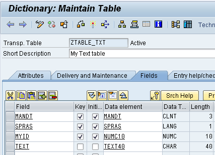 how to create text id in sap