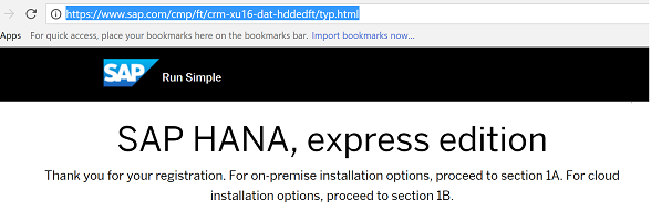 Install SAP HANA on your laptop or PC using Express edition