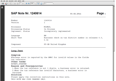 Pdf sap notes as
