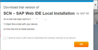 Install SAP Web IDE local trial version on your PC