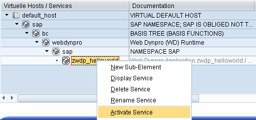 SICF maintains SAP web services that use HTTP communication