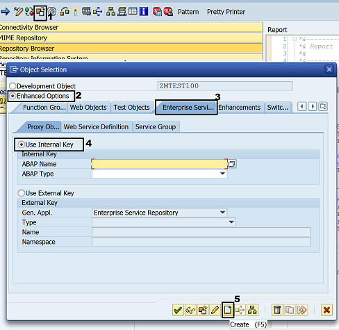 ABAP Web Service call using a SAP enterprise service to consume it